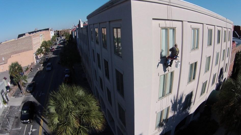 High Rise Window Washing Downtown Charleston 1