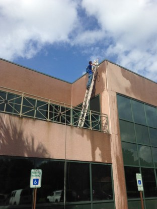 pressure washing difficult to reach places