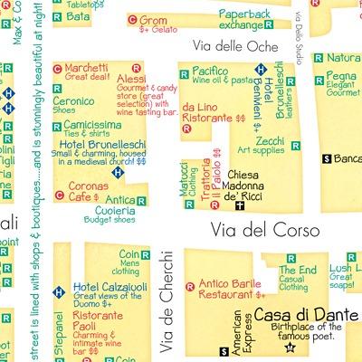 Карта шоппинга во Флоренции