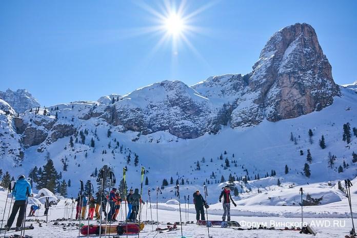 Lagazuoi. Доломитовые Альпы Италия
