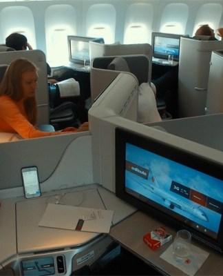 Салон бизнес класса 777 Air Canada