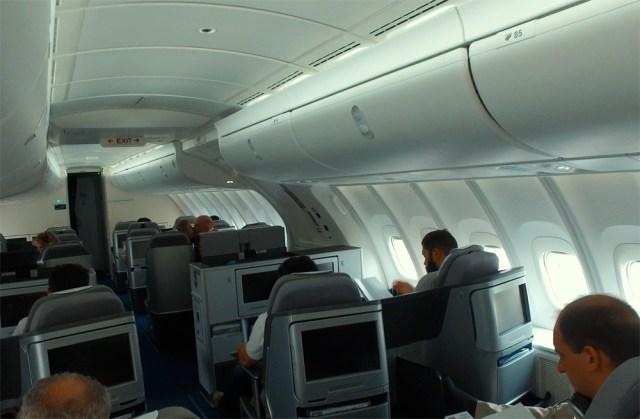 Салон бизнес-класса B-747-838 а/к Lufthansa