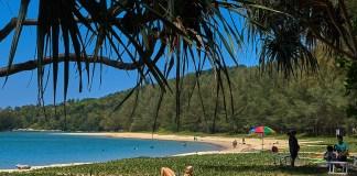 Пляж Лаян бич на карте