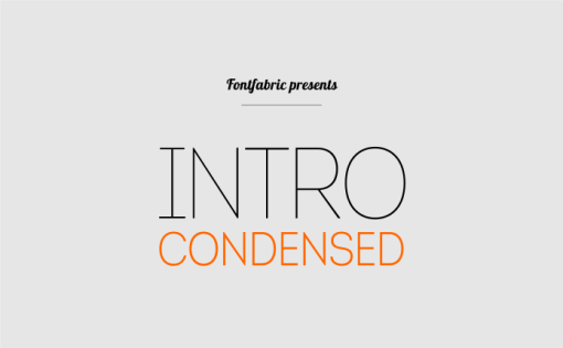 Intro Condensed Free шрифт скачать бесплатно