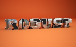 Трехмерная типографика Бенуа Шаллана-Robust_01