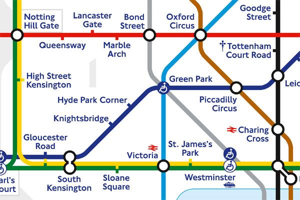 Фрагмент схемы Лондонского метро