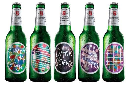 Лимитированный дизайн этикеток пива Becks