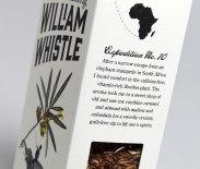 Логотип и упаковка чаев и кофе The Adventurous Blends of William Whistle