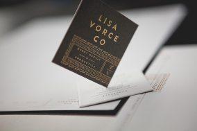Фирменный стиль организатора событий топ-уровня Lisa Vorce Co