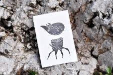 Иллюстрации и принты в технике линогравюры Ии и Миши Гаас