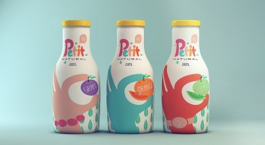 Приятный дизайн упаковки для натуральных соков Petit.