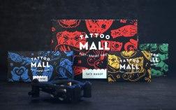 Фирменный стиль для магазина тату оборудования Tattoo Mall от Openmint