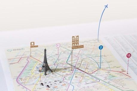 Транспортная схема Парижа, созданная Константином Коноваловым и его командой