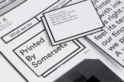 Стиль и сайт канадской типографии Printed by Somerset