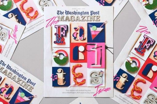 Рукотворные иллюстрации для обложки и разворотов журнала The Washington Post
