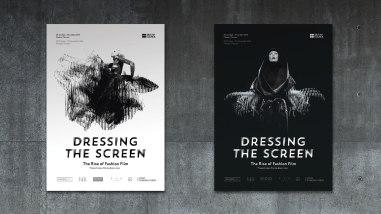 Фирменный стиль и навигация нового интернационального фестиваля фэшн-кино Dressing the Screen: The Rise of Fashion Film в Москве