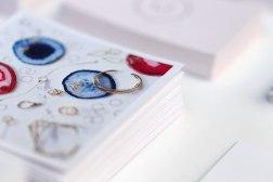 Логотип и стиль молодого ювелирного бренда «Сахарок»