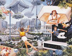 Тумблер-блог с научно-фантастическим артом семидесятых