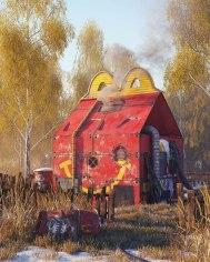 Серия иллюстраций Филипа Ходаса, 3D-иллюстратора из Праги