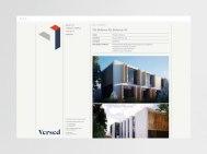 Логотип и стиль строительной компании Вёст (Versed)