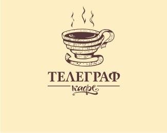 10 логотипов на тему кофе и кафе. Доброе утро :)