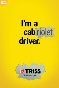 Реклама мгновенной лотереи TRISS