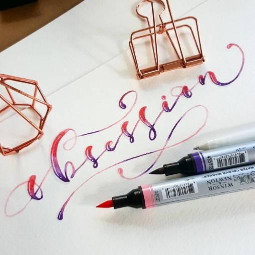 Каллиграфия и леттеринг Мэй Минортис