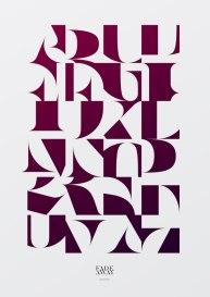 10 плакатов венгерского шрифтовика и каллиграфа Арона Янчо