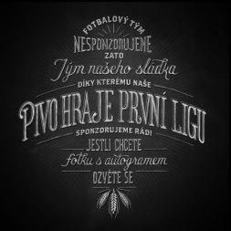 Иллюстрации и леттеринг Бена Дидье в рекламе чешской пивоварни Жатец.