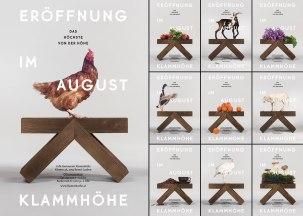 Логотип, стиль, интерьер и рекламная кампания кафе-ресторана Klammhöhe в австрийском городке Бранд-Лабене