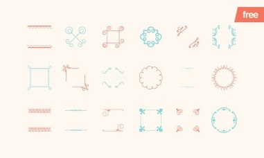 12 бесплатных векторных наборов — логотипы, иконки, вензеля и рамочки