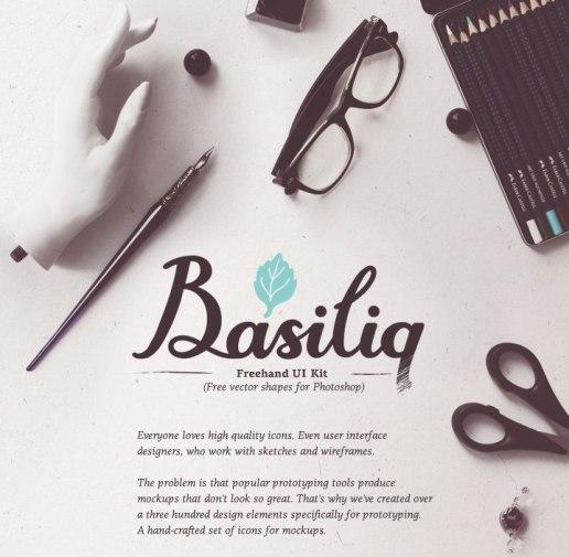 Базилик — набор векторных элементов для быстрого прототипирования сайтов и мобильных приложений (PSD).