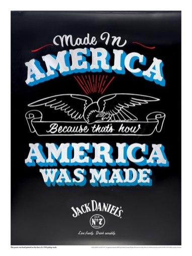 Плакаты для бренда Джек Дэниелс, выполненные тремя американскими художниками.