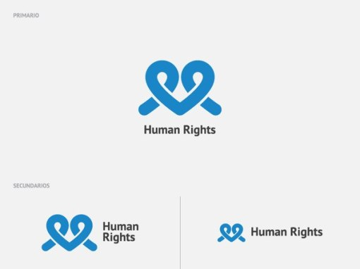 Логотип конкурса «Права человека». Дизайнер — Диего Ходгсон, Чили (diegohodgson.com)