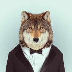 Портреты зверей в одежде