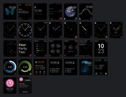 Большой бесплатный Apple Watch UI Kit (PSD), 270 экранов в 6 категориях
