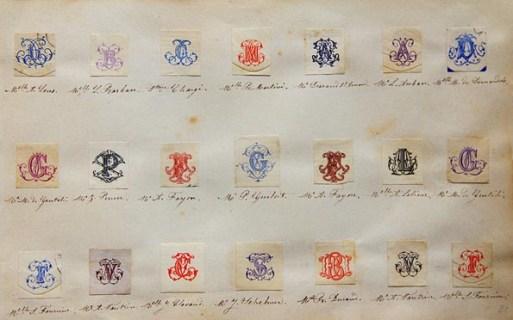 Коллекция настоящих монограмм знати 19 века
