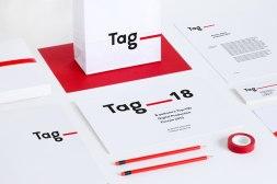 Новый фирменный стиль агентства Тэглайн, выполнен студией Скада