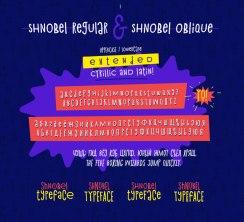 Новый акцидентный шрифт с кириллицей «Шнобель»