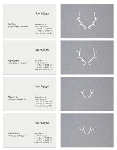 Фирменный стиль немецкого агенства Jäger & Jäger (Охотник и Охотник), победителя European Design Awards 2013 в номинации «Агентство года».