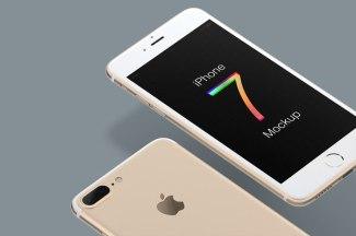 Бесплатный мокап седьмого Айфона в форматах Скетча и Фотошопа