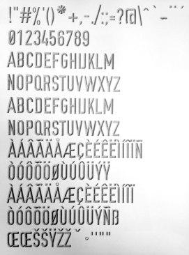 Голландской дизайн-команде «Автобан» потребовалось сделать шрифт для использования в рекламных материалах Playstation Network.