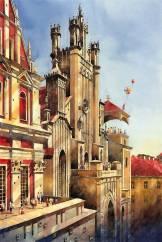 Невероятные акварельные картины Титуса Бжозовски (Tytus Brzozowski), польского архитектора и художника