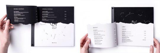 Day&Night — концепт фирменного стиля заведения, которое ресторан днём и бар по ночам.