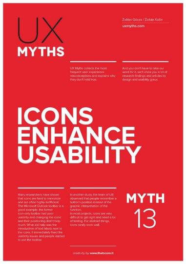 32 плаката с UX-мифами