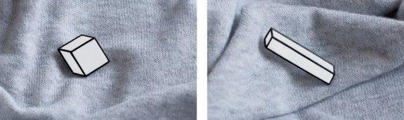 Логотип и упаковка Cubik, минималистских ювелирных украшений.