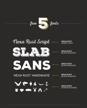 5 бесплатных начертаний шрифтов Некса Раст