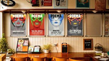 Афиши для техно-клуба Poema