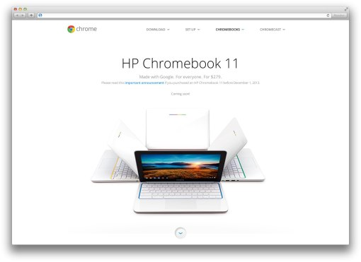 Сайт Хромбука (HP Chromebook 11)