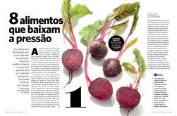 Дизайн и вёрстка бразильского журнала SAUDE Magazine